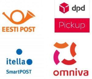 Tarne meetodid Itella, Omniva, DPD, Eesti Post