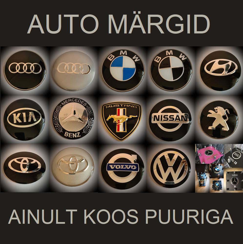 AUTO MÄRGID AUDI 1, AUDI 2, BMW 1 , BMW 2 , HYUNDAI, KIA, MERCEDES, MUSTANG, NISSAN, PEUGEOT, TOYOTA 1 , TOYOTA 2 , VOLVO , VW